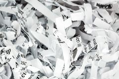Shredded paper close up Royalty Free Stock Photo