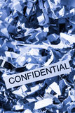 Shredded paper confidential Stock Photo