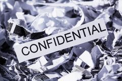 Shredded paper confidential Royalty Free Stock Images