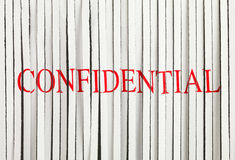 Shredded Paper. Confidential in red on Shredded Paper Royalty Free Stock Photography