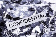 Shredded paper confidential Royalty Free Stock Photography