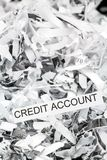 Shredded paper credit account Stock Images