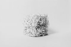 Shredded Paper Cube Stock Image