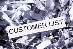 Shredded paper customer list Stock Images