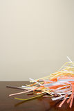 Shredded paper on a desk Royalty Free Stock Photos