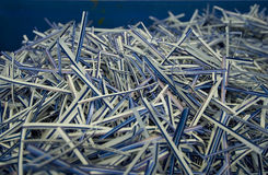 Shredded paper documents Stock Images
