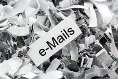 Shredded paper keyword e-mails Royalty Free Stock Photos