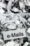 Shredded paper keyword emails Royalty Free Stock Photo