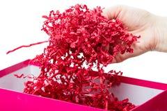 Shredded paper packaging Stock Photos