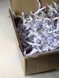 Shredded paper packing in box Royalty Free Stock Images