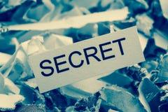 Shredded paper secret Stock Photo