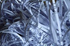 Shredded paper in a office royalty free stock images