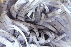 Shredded paper after shredding royalty free stock photos