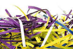 Shredded paper strips Royalty Free Stock Photos