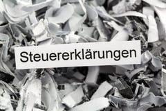 Shredded paper tax returns Stock Image