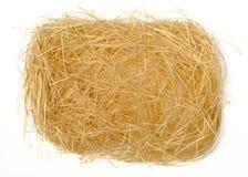 Shredded paper. Texture in bird nest shape stock photography