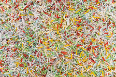 Shredded paper texture. Royalty Free Stock Photos