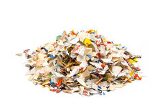 Shredded paper Stock Photography