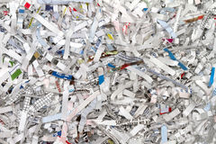 Shredded Papers. Several confidential business papers shredded Royalty Free Stock Photos