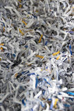 Shredded papers Stock Image