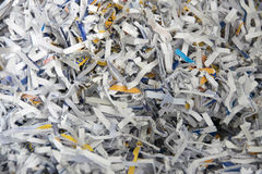 Shredded papers Stock Photography