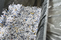 Shredded papers Stock Images