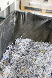 Shredded papers Stock Photo