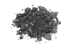 Shredded pieces of charcoal Royalty Free Stock Photography
