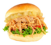 Shredded Pork And Apple Sandwich Roll Royalty Free Stock Photography