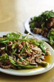 Shredded pork with green pepper. One of the most famous chinese dish royalty free stock photography
