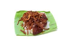 Shredded pork with sticky rice Royalty Free Stock Photo