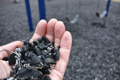 Free Shredded Recycled Tire Floor For Playground Safety Royalty Free Stock Images - 39108799