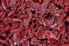 Shredded Red Cabbage up Close Royalty Free Stock Images