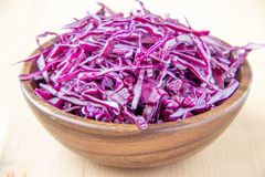 Shredded red cabbage Royalty Free Stock Images