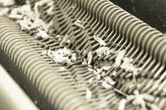 Shredded shredder scrap Stock Images