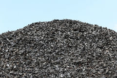 Shredded tires Royalty Free Stock Images