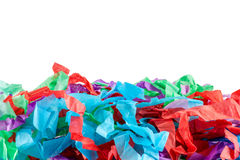 Shredded tissue. A close up of colourful shredded tissue paper with space for text Stock Photography