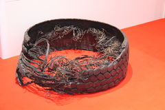 Shredded Tyre. Stock Image