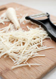 Shredded vegetables julienne cut Stock Photos