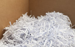 Shredded waste paper strips Stock Photography