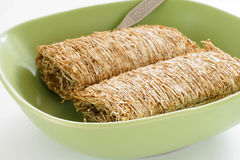 Shredded wheat biscuits Royalty Free Stock Photography