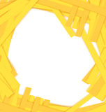 Shredded yellow paper center vector Royalty Free Stock Photos