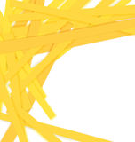 Shredded yellow paper vector Royalty Free Stock Image