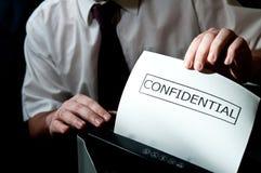 Shredder confidencial Imagem de Stock