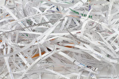 Shredder Cutting Paper Royalty Free Stock Image