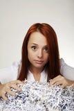 Shredder de papel Fotografia de Stock Royalty Free