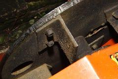 Shredder. Image of heavy duty hired petrol shredder in garden Stock Photography