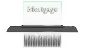 Shredder with Mortgage Royalty Free Stock Images