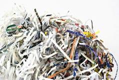 shredding бумаги крупного плана Стоковая Фотография