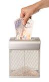 Shredding деньги Стоковое Изображение
